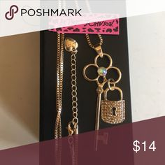 💕FUN💕 Mushroom Rhinestone Necklace Brand new with tag! Stunning gold tone necklace with rhinestones! Betsey Johnson Jewelry Necklaces