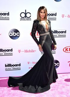 Laverne Cox stuns on the red carpet at the 2016 Billboard Music Awards Orange Is The New Black, Traje Black Tie, Billboard Music Awards 2016, Laverne Cox, Nice Dresses, Formal Dresses, Red Carpet Fashion, Dress Up, Fancy Dress