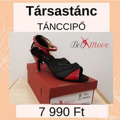 Társastánc cipő 7990 Ft, társastánc tánccipő vásárlás a Belmove tánccipő boltban Budapesten a Nyugatinál, 7 cm-es sarokkal, fekete/piros színben, boka-pántos. Black 7, Budapest, Latina, Wedges, Red, Shoes, Fashion, Moda, Zapatos