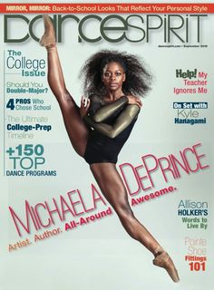 The PrimaBallerina Michaela DePrince for Dance spirit magazine august 2015 photography