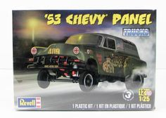 The 1953 Chevy Panel Truck model kit is made byRevell in 1/25 scale.- Big 409 cu. in. V-8 engine - Stock or Gasser suspension - Bench or bucket seats Brand new