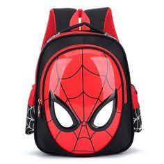 Children 3D Cute Animal Design Backpack boys girls Primary school Backpack kids Kindergarten backpack Schoolbag Mochila Infantil Spiderman Book, Spiderman Backpack, Spiderman Marvel, Spiderman Face, Cheap School Bags, School Bags For Boys, Girls School, Boys Backpacks, School