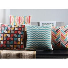 $35.99【Bailand】Set of 4 Modern Minimalism New York's Lights Decorative Pillow Covers