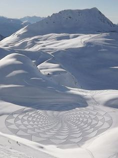 Snow Drawing By British Artist Simon Beck