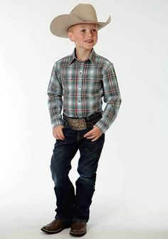 Roper Boys Western Shirt Hold On Tight Style 03-030-0278-2058