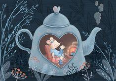 Love Birds Painting, Pretty Drawings, Cute Mouse, Christmas Drawing, Hamsters, Children's Book Illustration, Cute Art, Illustrators, Folk Art