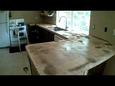 A well explained video of the mechanics for a concrete counter top poured in place. Look for part 2 for the completed look