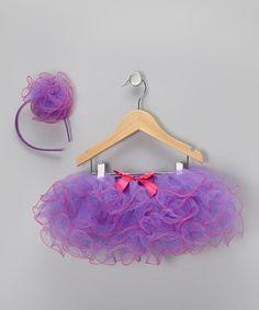 Purple & Fuchsia Tutu & Headband - Infant & Toddler by Sparkle Adventure #zulily #zulilyfinds