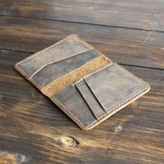 Personalized Leather Wallet, Handmade Leather Wallet, Leather Card Wallet, Leather Bifold Wallet, Leather Wallet Pattern, Minimalist Leather Wallet, Leather Projects, Slim Wallet, Leather Accessories
