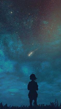 Wunsch nach einem Stern (iPhone X) - 携帯電話の背景