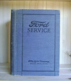 Antique Book 1925 Ford Service Manual Auto by CrookedHouseBooks