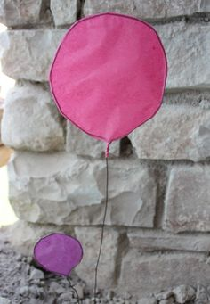 Paper & wire balloon decorations