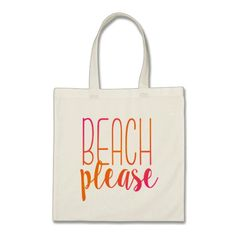 Beach Please Beach Bag Pink and Orange and Super Stylish for this summers beach trip