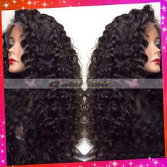 Fast shipping deep curly lace front human hair wig / glueless full lace wig with silk top natural scalp color for black women-in Wigs from Beauty & Health on Aliexpress.com | Alibaba Group