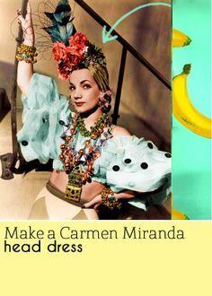 Sarah's Threads: How to make a Carmen Miranda hat