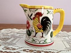 Vintage Rooster and Roses China by Katydidcreations03 on Etsy