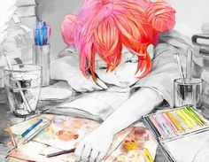 ✮ ANIME ART ✮ this is me most nights. When I'm not doing homework, reading manga, or watching anime. Anime Kawaii, Art Kawaii, Otaku, I Love Anime, Awesome Anime, Manga Drawing, Manga Art, Mascara Anime, Illustrations