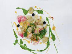 Raw Vegetable salad | Scallops | Cahew-Basil-Emulsion