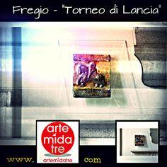 """Fregio """"Torneo di Lancia"""" Materiale - Raku  Dimensioni - Cm. 36,5x39   Spezza una lancia, visitaci su➜ http://www.artemidatre.com/  #Torneo #Lancia #Fregio #Cavalleresco #Arte #Scultura #Ornamento #Oggetto #Idea #Lusso #Art #ArtisticSkill #CasaModerna #Arredamento #Design #DesignModerno #Gallery #ArtGallery #Raku #Prestigio"""