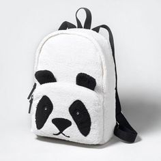 Furry Panda Backpack
