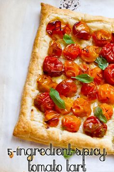 Delicious and spicy 5-ingredient tomato tart!