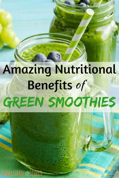 The nutritional benefits of green smoothies are numerous. Green smoothies improve your nutritional density of your caloric intake. Smoothie Benefits, Juicing Benefits, Benefits Of Green Smoothies, Vegan Smoothie Recipes, Healthy Smoothies, Vegan Recipes, Healthy Drinks, Easy Recipes, Diet Recipes