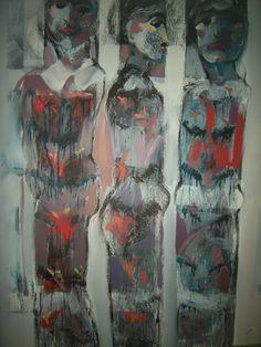Sincretismo 100 cm x 80 cm Acrílico-Lienzo 2012 3.000€ #arte #art #artecubano #cubanart #galerías #galleries #pintura #painting #EdelBordon Cuban Art, Painting, Gallery, Floating Island, Pintura, Canvases, Islands, Roof Rack, Painting Art