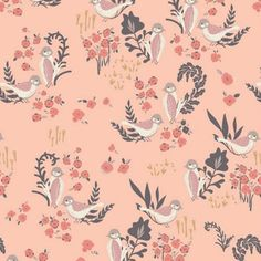 Feathered Fellow in Blush Organic | Bobbie Lou's Fabric Factory