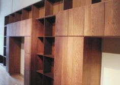 Inspiration: Amazing Shelving Unit Built from Reclaimed Redwood by Joseph Sandy