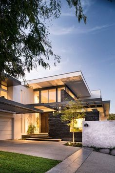 Architekt Wordpress Theme - Interior Design and Architecture Architecture Design, Beautiful Architecture, Residential Architecture, Contemporary Architecture, Modern Contemporary House, Rustic Modern, Modern Living, Modern Exterior, Exterior Design