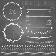 Items similar to 13 Laurels & borders clipart files and 1 chalkboard background. Buy 2 get One OFF! on Etsy Chalkboard Writing, Chalkboard Lettering, Chalkboard Designs, Chalkboard Ideas, Web Design, Graphic Design, Chalk Wall, Memo Boards, Art Plastique