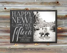 Single/Double Sided Custom Photo New Years Card by dearkatedesigns