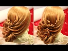 PEINADO - Cebolla / Chongo de Flores | Bun Flowers Hairstyle - ViriYueMoon - YouTube