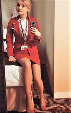 Virgin Atlantic, Dress Suits, Dresses, Cabin Crew, Flight Attendant, Heavy Metal, Girly, Fancy, Legs