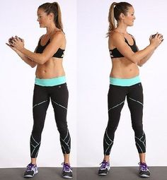 3. Heel Touches: How To Do: Lie on your back with your feet flat on the ground and your arms by your sides.