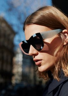 & Other Stories image 2 of Colour Block Sunglasses  in Black