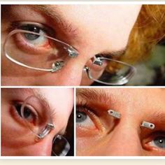 Pierced glasses. Now, I'm all for piercings, and I love glasses, but...this is just impractical.
