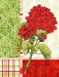 "Floral ""Vertical Geranium"", by Courtney Davis (Joy Hall)"