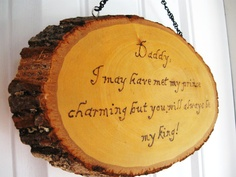Father of the bride gifts(from a tree at the tree farm) Daddys Little Girls, Daddys Girl, Dream Wedding, Wedding Things, Wedding Stuff, Daddy Gifts, Sweet Nothings, Father Of The Bride, Fun Ideas