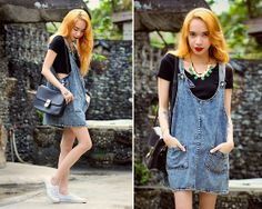 East Clothes Denim Dress, East Clothes Bag, Li's Closet Lionhead Bracelet