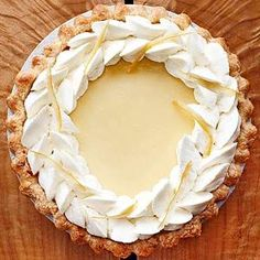 Lemon Velvet Cream Pie - The secret to this holiday-worthy cream pie recipe is a small amount of unflavored gelatin. The gelatin keeps the pie from falling after baking.