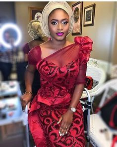 Latest collection of beautiful wedding guest aso ebi styles of 2018 that is very perfect for you, try these wedding guest aso ebi styles Nigerian Lace Styles, Nigerian Dress, African Lace Styles, African Lace Dresses, Latest African Fashion Dresses, African Inspired Fashion, African Print Fashion, Africa Fashion, African Prints