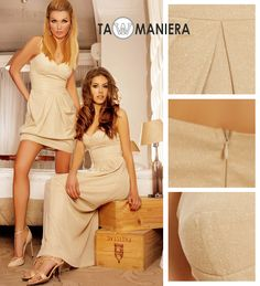Gold dresses | Glamour Collection | Summer 2014 | Tamaniera #fashion #golddress #eventdress
