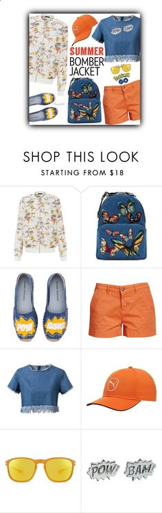 Summer Bomber Jacket by ragnh-mjos ❤ liked on Polyvore featuring New Look, Valentino, Chiara Ferragni, Barbour, Chicnova Fashion, Puma, Oakley, Edge Only, outfit and bomberjackets