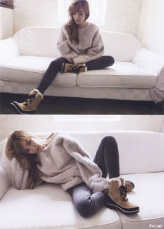 Girls' Generation's Tiffany in November 2014 issue of Elle Magazine, in collaboration with Sorel winter boots. Click pics for full res Credits: Elle (Korean), scanned by Pocari (Korean) Tiffany Girls, Snsd Tiffany, Tiffany Hwang, Girls' Generation Tiffany, Girls Generation, Sooyoung, Yoona, South Korean Girls, Korean Girl Groups