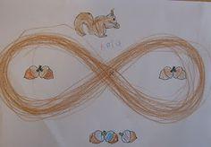 hilf dem Eichhörnchen die Nüsse zu sammeln    ~   tolle Schwungübung