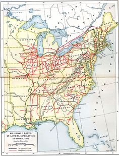 Railroad Lines in Actual Operation in the U. in How did your ancestors move across the country? Genealogy Forms, Genealogy Research, Family Genealogy, My Family History, Us History, History Timeline, Ohio Map, Native American History, Canadian History
