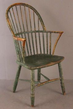 Double bow Windsor chair - Gillows painted - c1800 - note the stretchers...