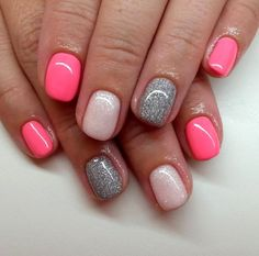 Make your short nails even more beautiful & colorful with Short Gel Nail Art designs. Here are the best Gel Nail Art designs for short nails. Colorful Nail Designs, Gel Nail Designs, Cute Nail Designs, Nails Design, Pedicure Designs, Manicure E Pedicure, Manicure Ideas, Nail Ideas, Gel Manicures