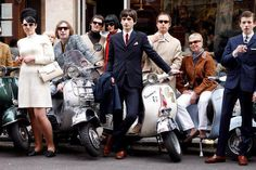 """Its a Mod thing going on. Mod Scooter, Lambretta Scooter, Vintage Vespa, Vintage Cars, Vintage Ideas, Tailor Made Suits, Mod Girl, 60s Mod, Skinhead"
